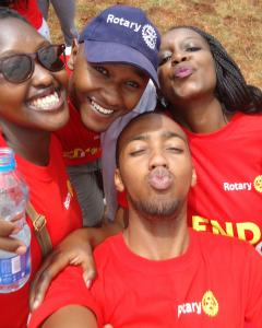 the rotary end Polio walk in Kenya